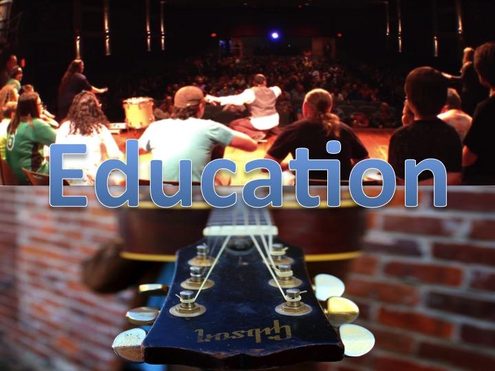 Music Button website education